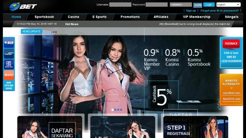 9BET - Situs Judi Bola, Casino Online Indonesia